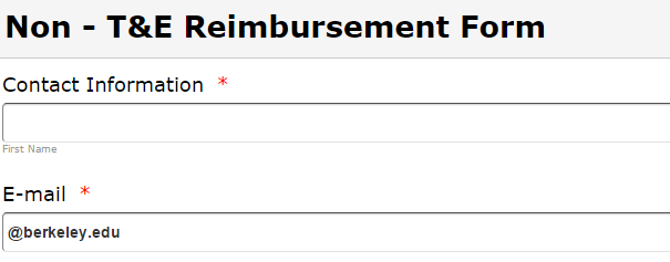 Entertainment Personal Reimbursement Form