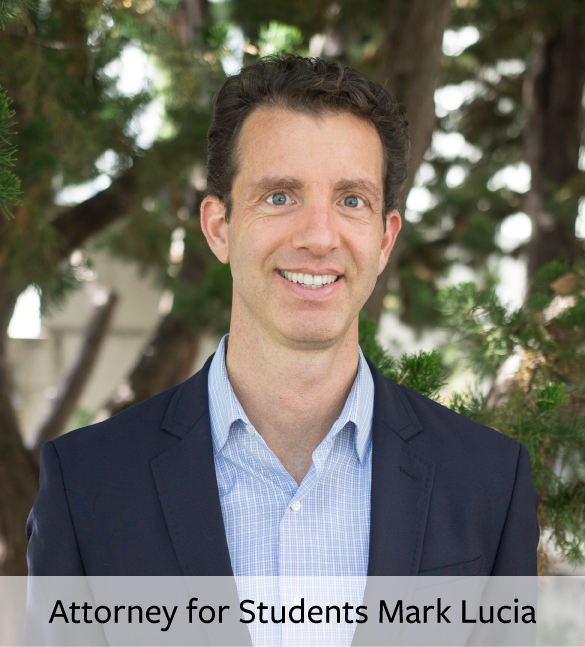 Attorney for Students, Mark Lucia