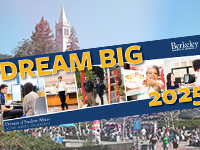 dream big banner with campanile and campus in the background